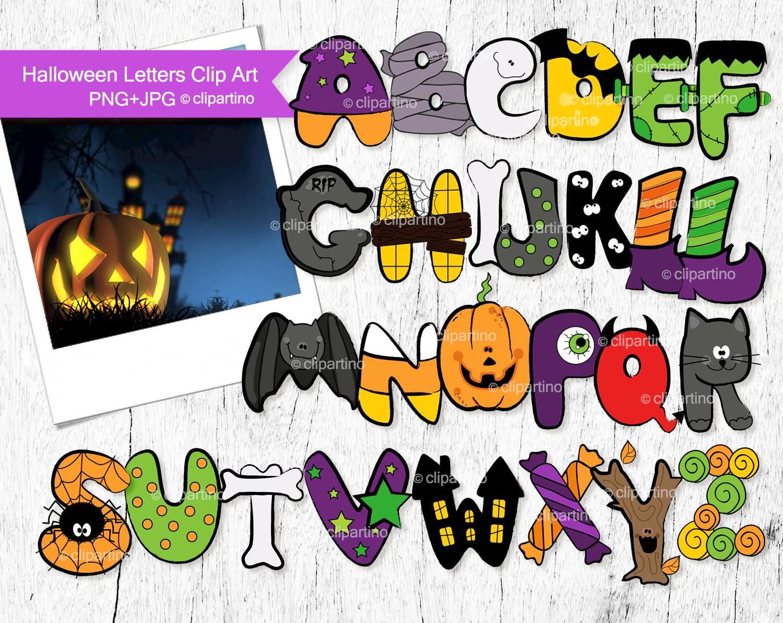 Halloween Letters Clip Art Halloween Alphabet Clip Art