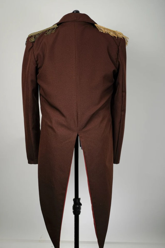 Men's Steampunk Jacket, Waistcoat & Shirt Outfit. 4
