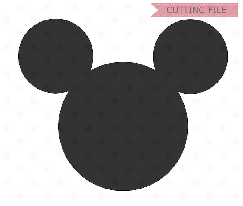 Download Mickey Mouse Head SVG Mickey Mouse Silhouette Vector SVG ...