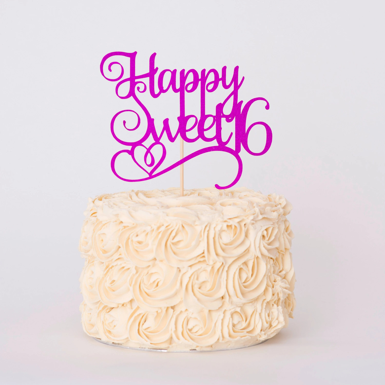Sweet Sixteen Birthday Cake Topper