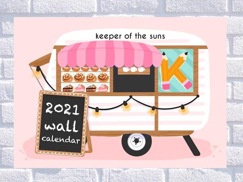 PREORDER 2021 Calendar Bakery Sweets Calendar Kawaii image 0
