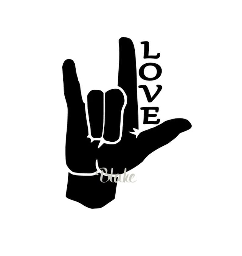 Download ASL I love you sign asl LOVE svg sign language svg Love ...