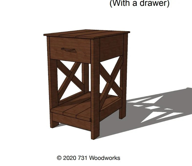 end table plans etsy