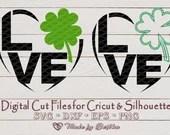 St Patrick's day svg, Shamrock svg, Clover svg, I LOVE Irish, St Patricks Day shirt - 2 Designs Digital Download, commercial use svg  Love Hearts il 170x135