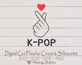 Love K-pop, Korean pop lovers for finger heart symbol of Love  Love Hearts il 170x135