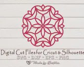 Mandala Flower, Zentangle - Digital SVG File for Cricut or Silhouette, DXF, PNG, Eps, Vector Download  Miscellaneous il 170x135