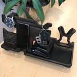 Christmas Gift Dad Nightstand Organizer With Gun Holder And Docking Stations With Gun Rack 50th Birthday Gift For Him