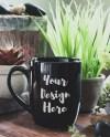 Coffee Mug Mockup 107 Black Dollar Tree Mug Zen Plants Etsy