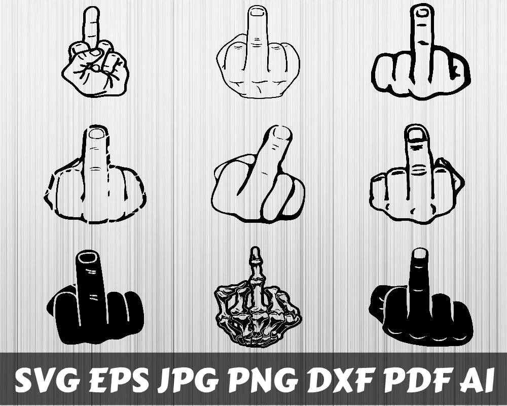 Download Free Svg File Middle Finger