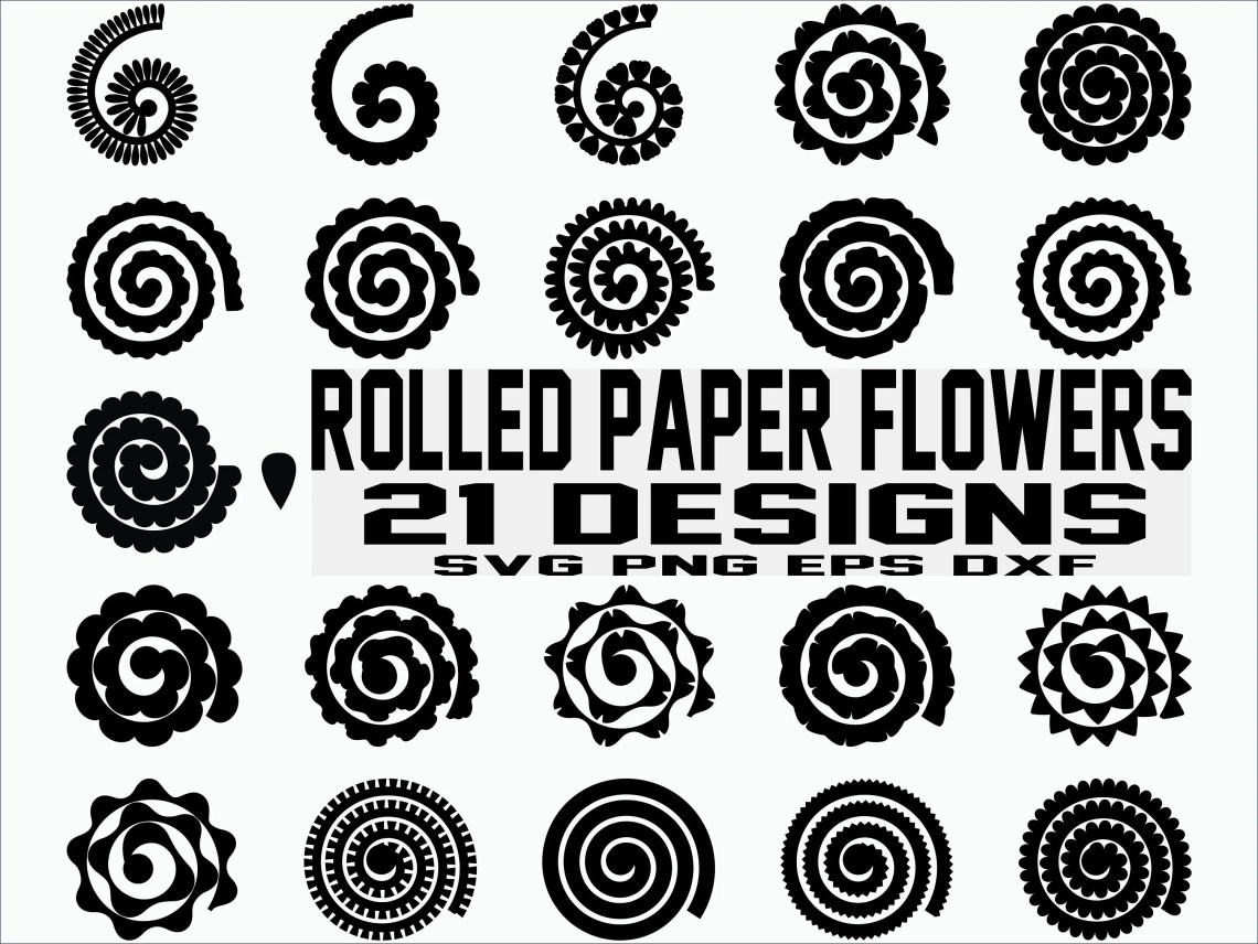 Download Rolled Paper Flowers SVG / Flowers Template / Origami ...