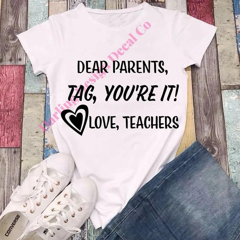 Download Dear parents tag you're it svg | Etsy