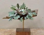 Mixed Media Nest Sculpture