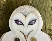 Flappy Owl - kinetic wall art