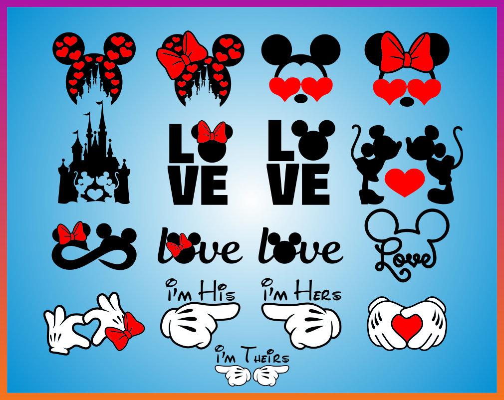 Download Disney Valentines day svg Disney Love Svg Mickey Minnie ...