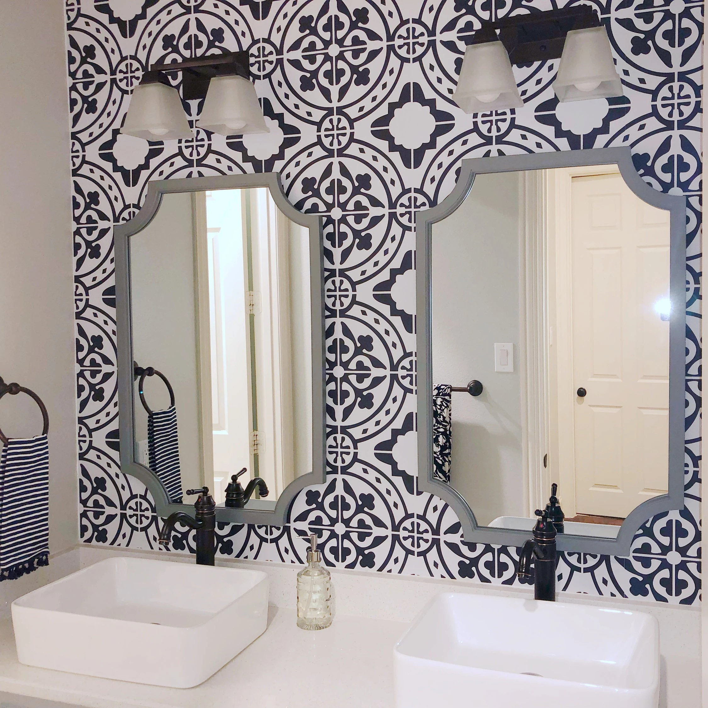 moroccan tile peel and stick wallpaper removable wallpaper etsy