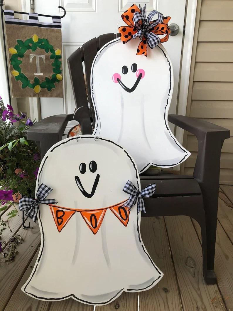 Halloween Ghost Door Hangers