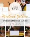 Stationery Mock Up Bundle Wedding Mockup Collection Yellow Etsy