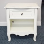 Young America White Wooden Nightstand