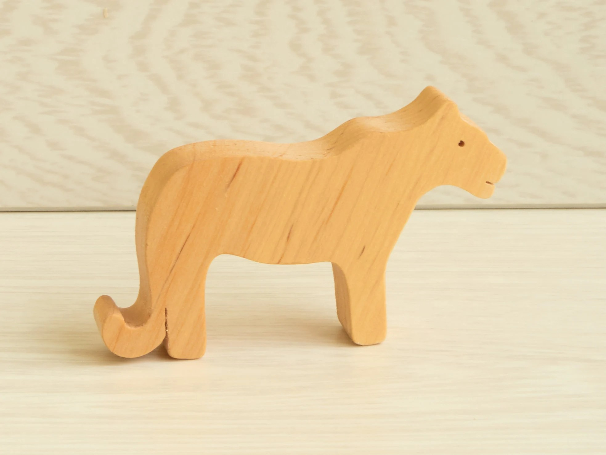 Wooden Toy Set Baby Animal Play Set Organic Wood Toys image 3
