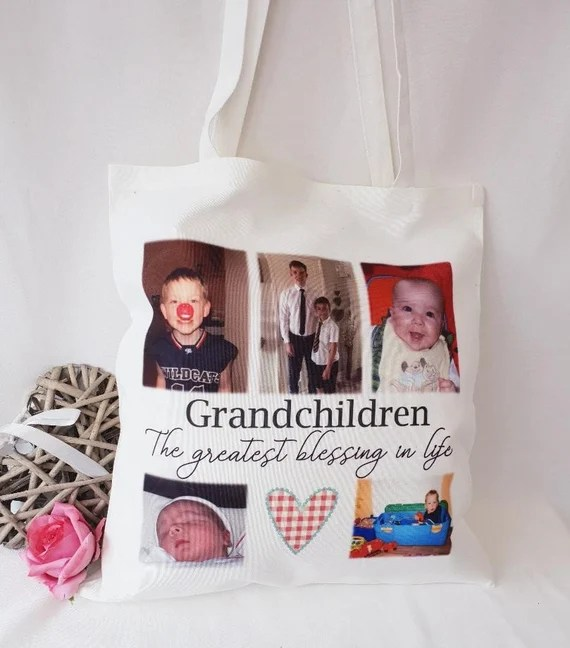 Personalised Photo White Tote Bag