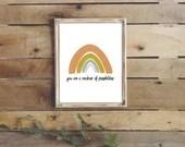 Pastel Rainbow poster, Rainbow print, Boho Rainbow print, Rainbow playroom art print, printable wall art, rainbow wall art