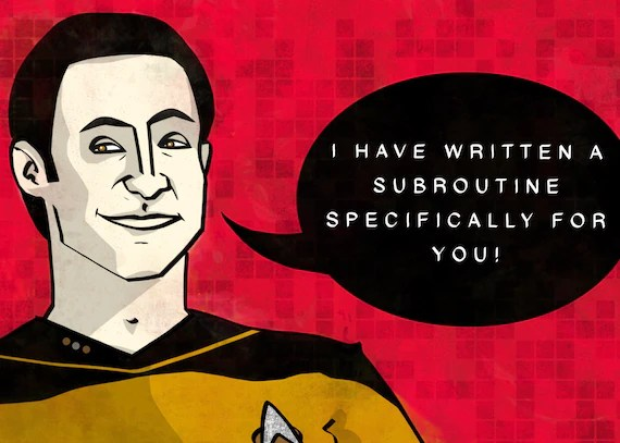 Data Star Trek Birthday Card Anniversary Celebration Etsy