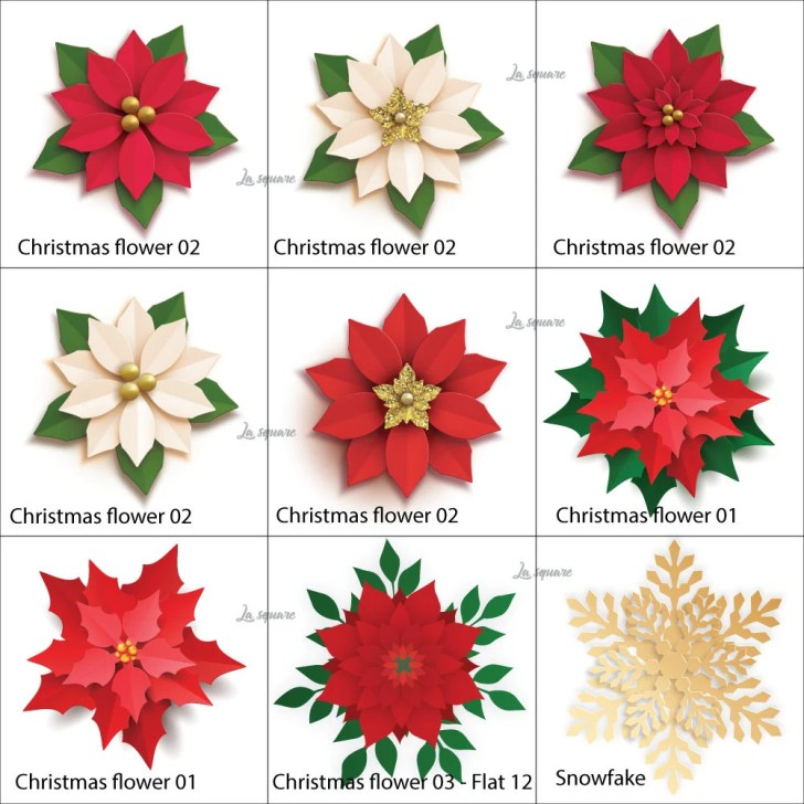 NEW Christmas paper flowe...