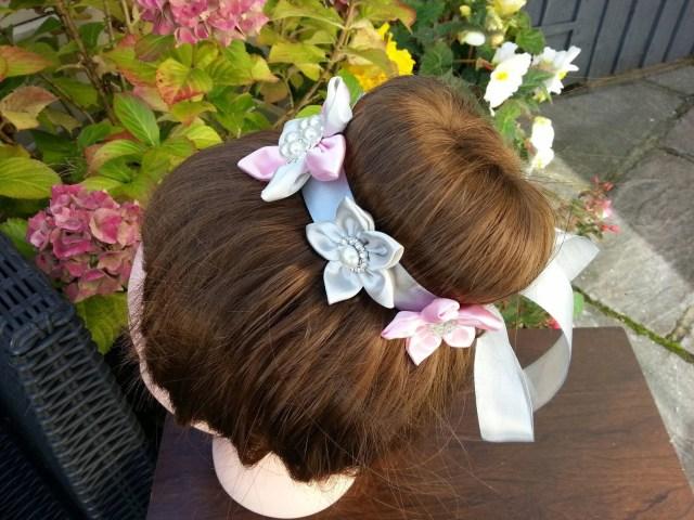 hair bun wrap bridal hair accessories ballet bun wrap wedding hair accessories floral bun wrap bun holder flower girl hair accessories