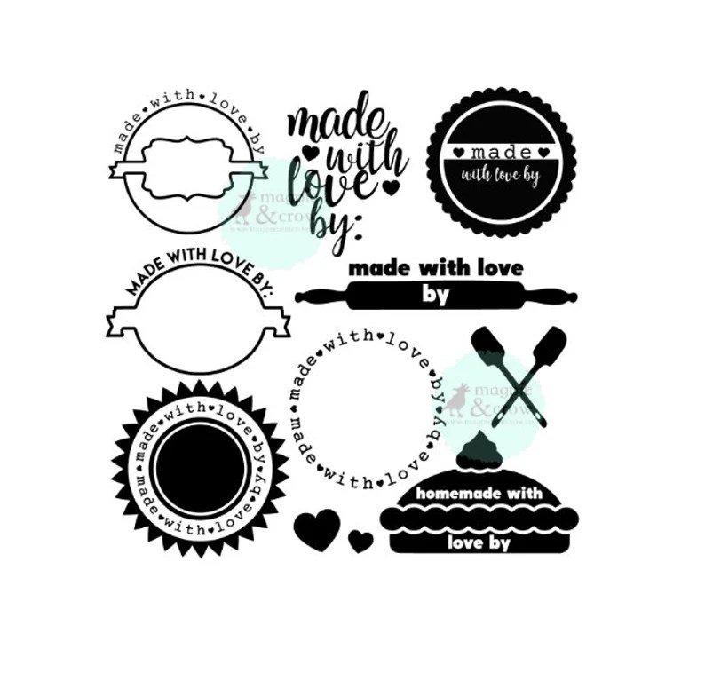 Download Made With Love SVG Gift Tag SVG Homemade with Love SVG   Etsy