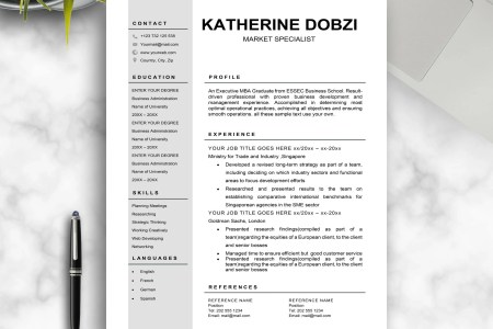 Modern Resume Template for Word Template WordModern   Etsy image 0