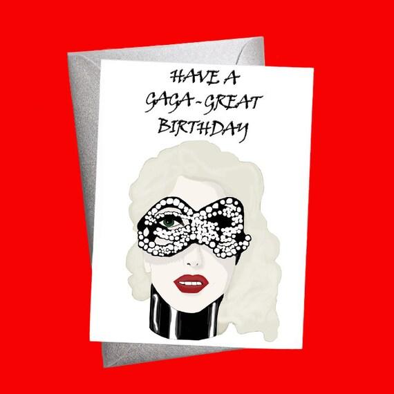 Lady Gaga Gaga Born This Way Pop Culture Card Happy Birthday