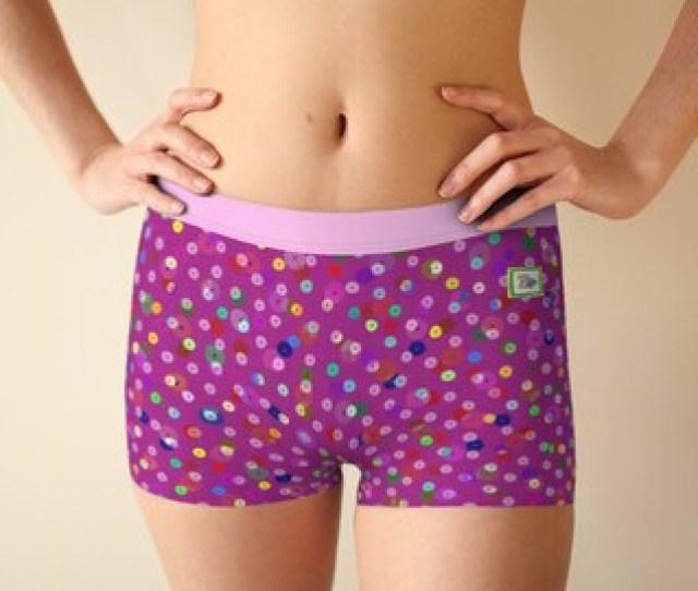 Silly Sequins Pink Boy Shorts Underwear Panties Teen Panties Hot Pink Multi Color Sequin Look Smoothing Panties Comfy Panties
