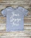 Grey Toddler T Shirt Mock Up Youth Kids Flat Lay Tshirt Etsy