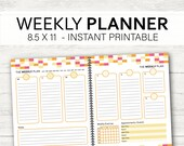 Weekly Planner_Bold and Happy Planner_Instant Printable