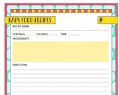 Baby Food Recipe, Yellow and Red Recipe Page, Recipes, Babies, Instant Printable, Unlimited Prints, Digital File