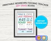 Baby Care Dry Erase Board, Printable, Instant Download