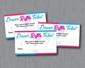 Diaper Raffle Tickets, Gender Reveal, Pink Blue, Instant Download, Printable