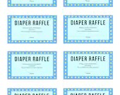 Blue Baby Shower Games, Diaper Raffle, 8 Games + Answer Sheet, Instant Printables