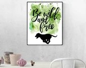 Lab Puppy, Dog Wall Art, Puppy Printables, Wall Hanging, Labrador Retriever, Watercolor Dog Prints   Front Seat Ryder