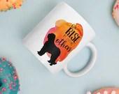 We Rise By Lifting Others, Coffee Mug, Ceramic Mug, Dog Mom, Bouvier des Flandres, Fluffy Dog