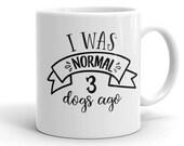 Dog Mug, Three Dogs, Dog Pack, Gift Idea for Dog Lovers, 3 Dogs, Dog Gift Ideas