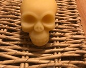 Raw Beeswax Skull Candle