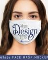 Face Mask Mockup Female Jpg Psd Files Etsy