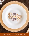Plate Mock Up For Fall Thanksgiving Styled Photo Etsy