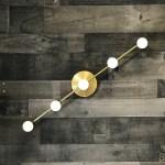 Koios Gold Raw Brass 5 Bulb Wall Sconce Mid Century Modern Bathroom Hallway Vanity Light