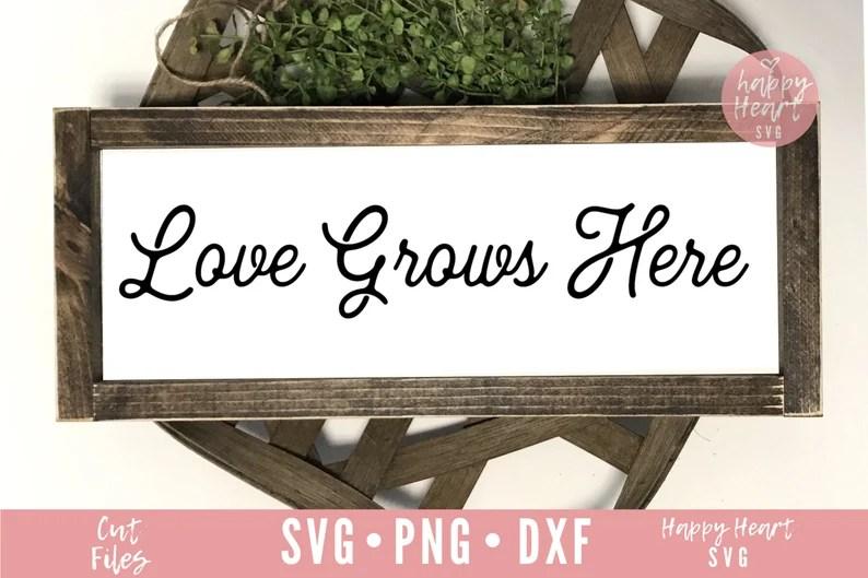 Download Love Grows Here svg Spring svg dxf png instant download   Etsy