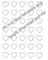 25 Mm Heart Collage Template Collage Art 1 X 1 Inch Heart Etsy