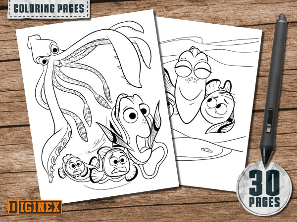 finding nemo coloring page # 70