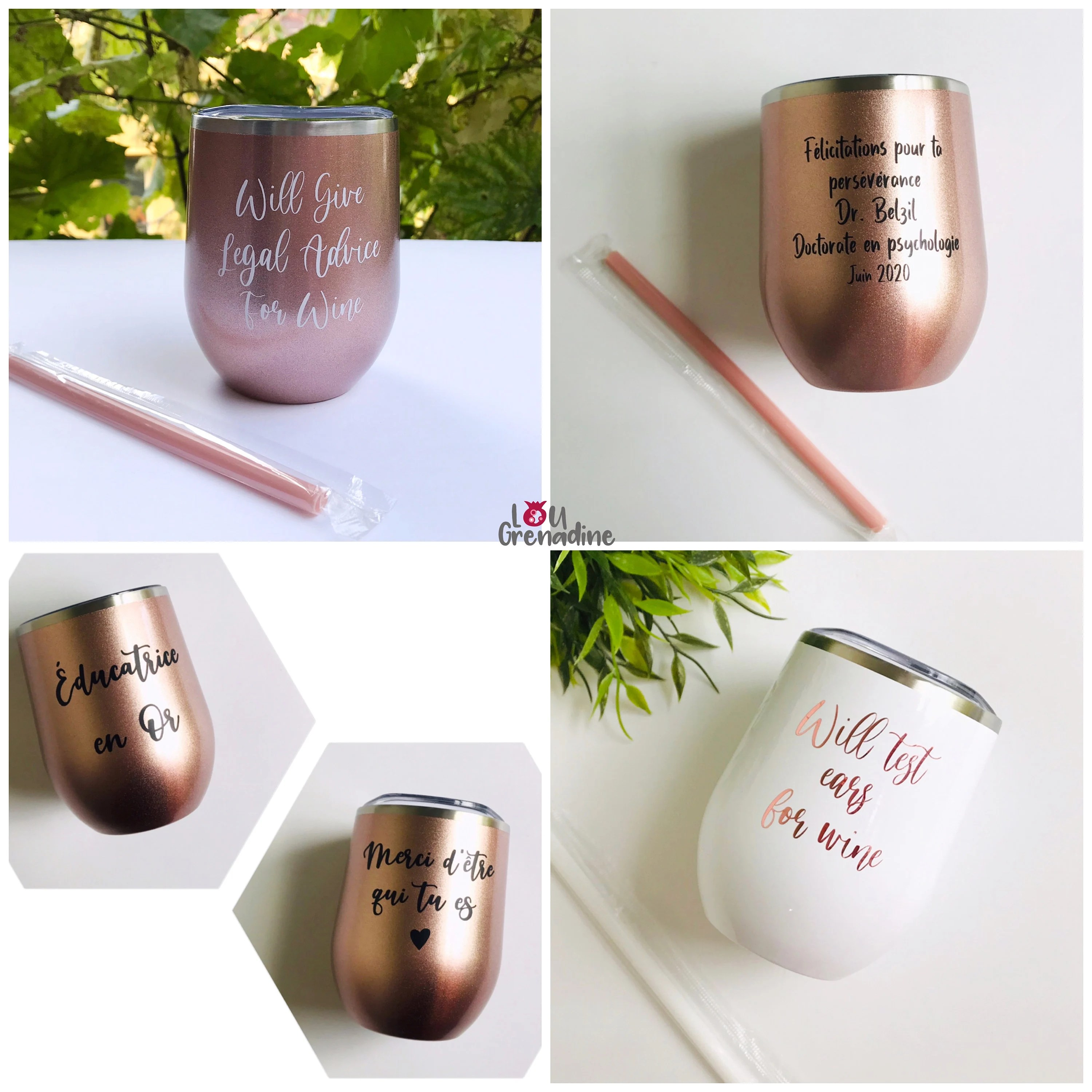 Personalized wine tumblers bachelorette party Bridesmaid image 5