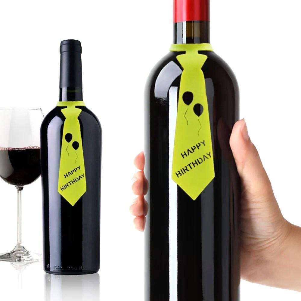 Happy Birthday Wine Bottle Ties Pack Of 2 Etsy